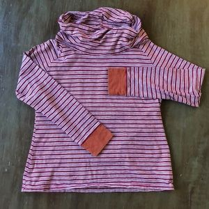 Toad & Co cowl neck striped t-shirt